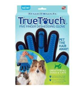 True Touch - перчатка для вычесывания шерсти