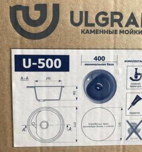 Каменная мойка для кухни ulgran u-500