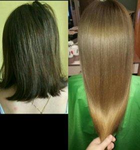 Кератиновое выпрямление и восстановление волос 🌹