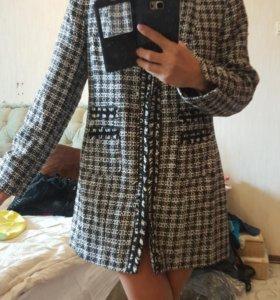 женское пальто полупальто 48 50 мостояние нового