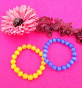 Новые браслеты из камня Кошачий глаз