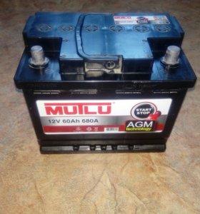 АGM аккумулятор Mutlu 12V, 60Ah, 680A.