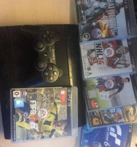 PlayStation 3, 500gb , 8 игр