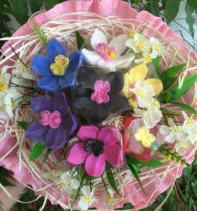 Букет орхидей, мыло ручной работы