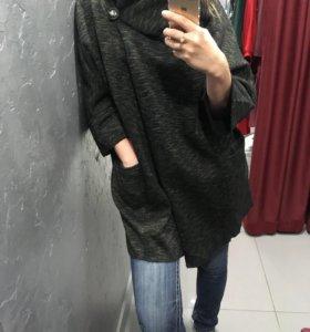 Лёгкое пальто-кардиган 50-54размеры