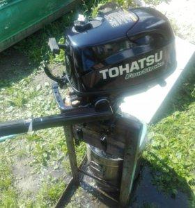 Лодочный мотор Тохатсу четыре такта 5лс.мало б.у!!