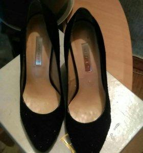 Туфли женские замшевые р 37