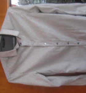 Белая рубашка с черным узором