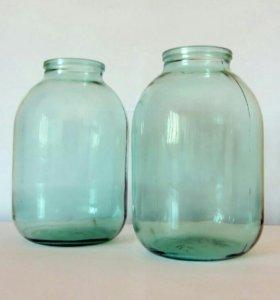 Банки стеклянные 3-х литровые, б/у