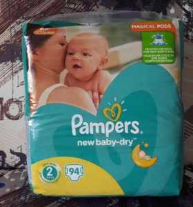 Pampers new baby dry размер 2