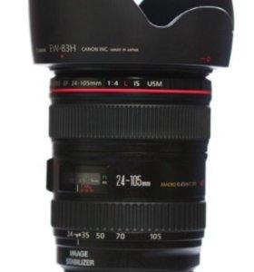 Объектив Canon EF 24-105 f/4L IS + бленда + фильтр