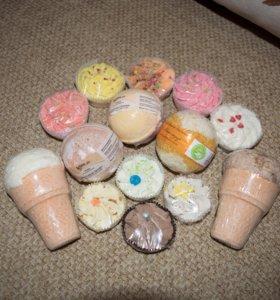 Шарики и десерты для ванн