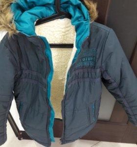 Куртка зимняя +подарок(штаны)