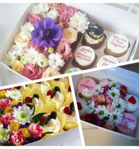 Десерты с цветами.HALAL