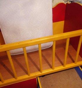 Кроватка трансформер с пеленальным столиком