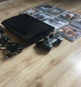 Sony PlayStation 3 Super Slim 500 GB + игры