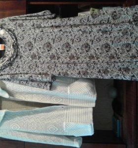Кофта с поясом и новое платье