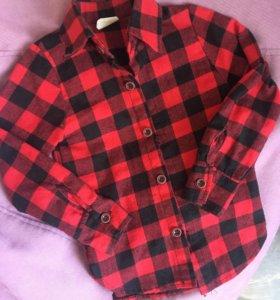 Рубашки в клетку для мальчика или девочки
