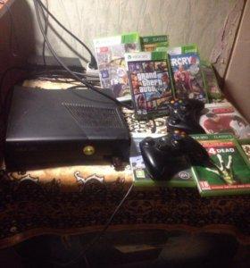 Xbox 360 + 7 игр