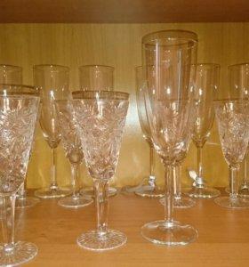 Фужеры для шампанского и бокалы