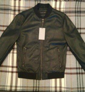 Кожаная куртка Zara (новая)