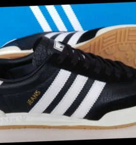 КРОССОВКИ adidas jeans leather and suede black