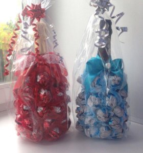 Бутылка в конфетах)
