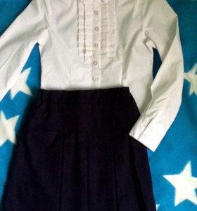 Школьная форма-блузка и кофты