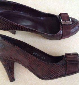 Туфли коричневые Натур. КОЖА Нotic 38 размер