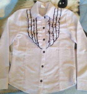 Блузка школьная,рост 140