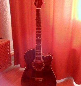 Аккустическая гитара с тюнером