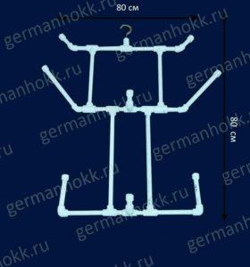 Простые вешалки-сушилки для хоккейной формы.