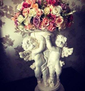 Цветочные композиции из мыла и искусственных цвето