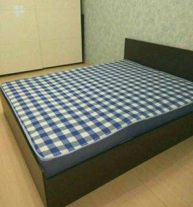 Кровать 160 с матрасом Аделия венге