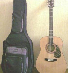 Гитара акустическая+утепленный футляр