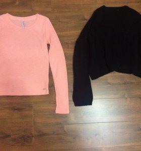 Новый свитер Bershka и кофта Cropp