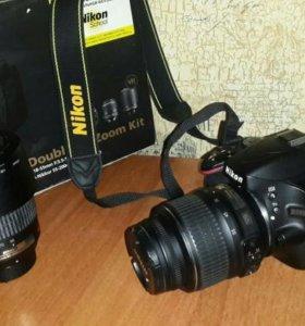 kit Nikon d5100 18-55vr + 55-200vr