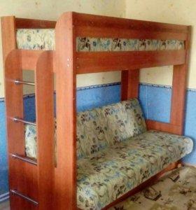 Двухярусный диван-кровать