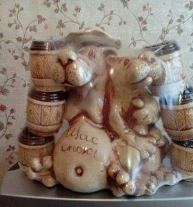 Подарочный набор посуды из керамики