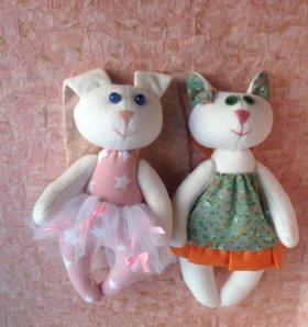 Текстильные зайки- котики