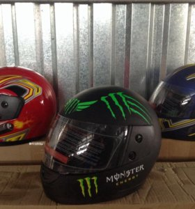 Шлема Monster матовая покраска