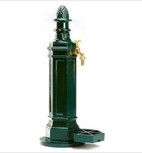 Водопроводная колонка зеленая, с подставкой, 98 см