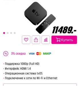 Продаю Apple TV 4 новый