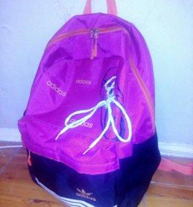 Рюкзак Адидас чёрно-розовый
