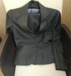 Пиджак-брюки-юбка 44р, натуральная ткань