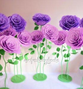 Ростовые бумажные цветы розы,пионы