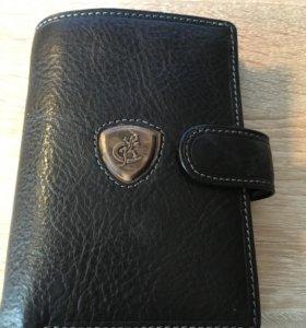 Бумажник портмоне кожанный