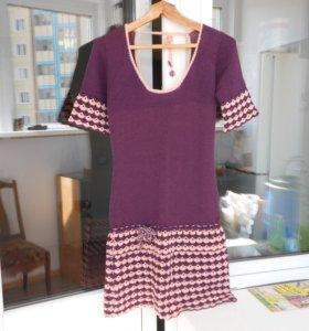 Платье вязаное (ручная работа).