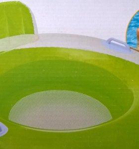 Надувной круг со спинкой - новый