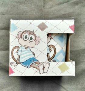 Кружка с обезьянкой